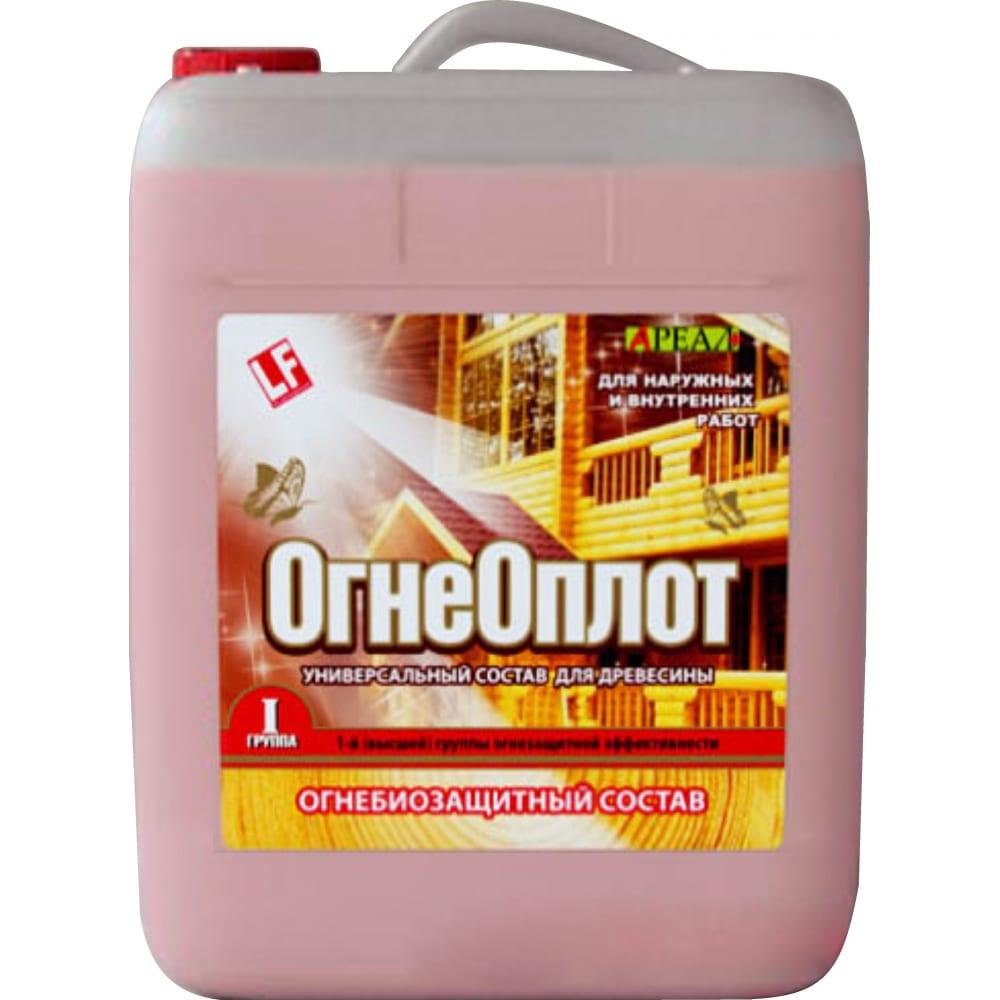 Купить Огнебиозащитный состав ареал+ огнеоплот1 1 группа огнезащитной эффективности красный 10 л а-454