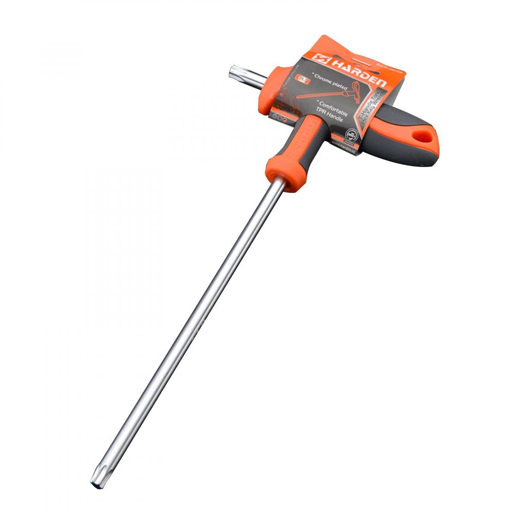 Имбусовый ключ harden crv, с т-образной рукоятью, t25, 4.5x100 мм 540724  - купить со скидкой