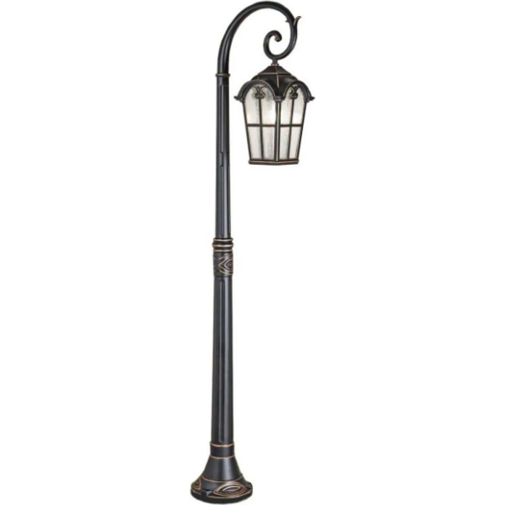 Уличный светильник elektrostandard mira f, черное золото, gl 1001f a047187  - купить со скидкой
