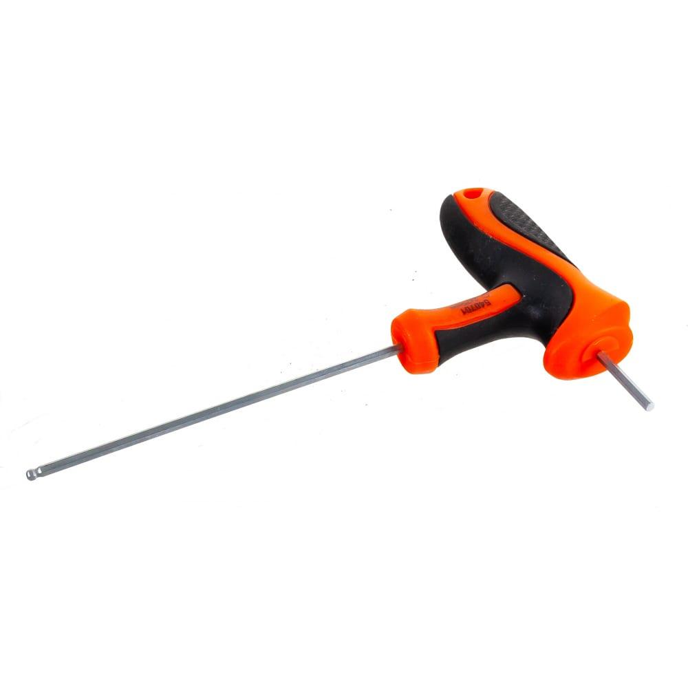Купить Имбусовый ключ harden crv, c т-образной рукоятью, шарообразная головка, 2x75 мм 540701