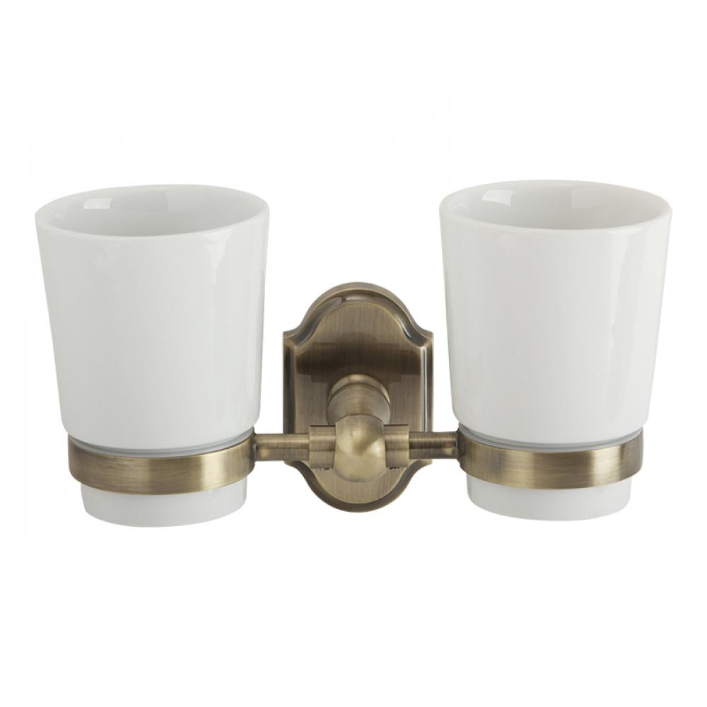 Купить Настенный стакан veragio stanford двойной, бронза/керамика vr.std-7742.br