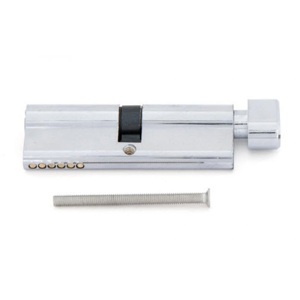 Купить Цилиндровый механизм home 80 мм 40x40 цам, 5 перф. ключей, верт. цвет хром cicam804040kvp