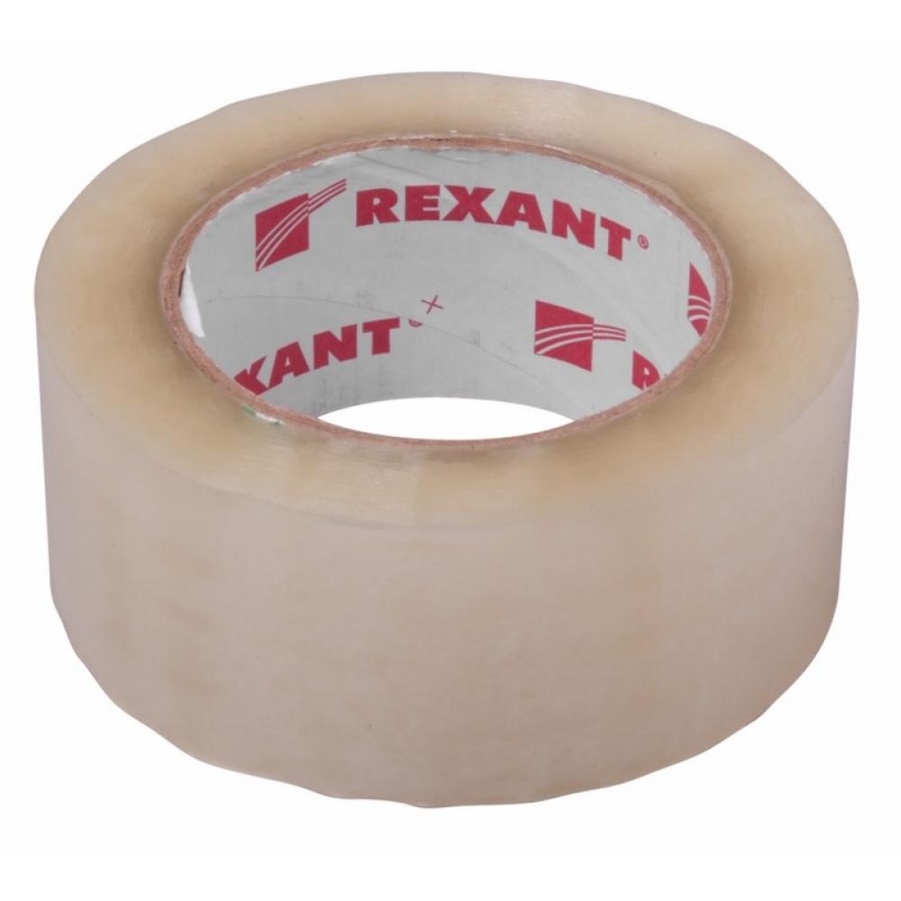 Купить Упаковочная клейкая лента rexant 48 мм х 50 мкм, прозрачный, рулон 66 м 09-4202