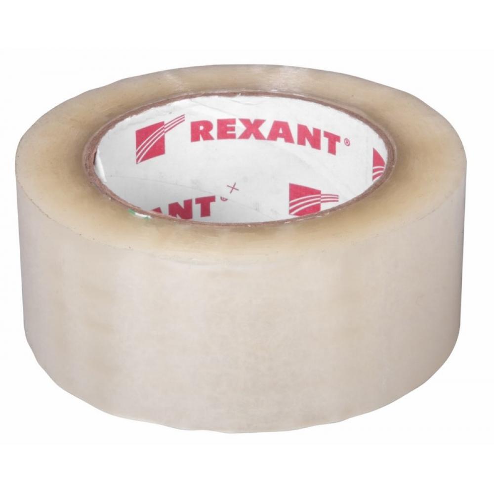 Купить Упаковочная клейкая лента rexant 48 мм х 50 мкм, прозрачный, рулон 150 м 09-4204