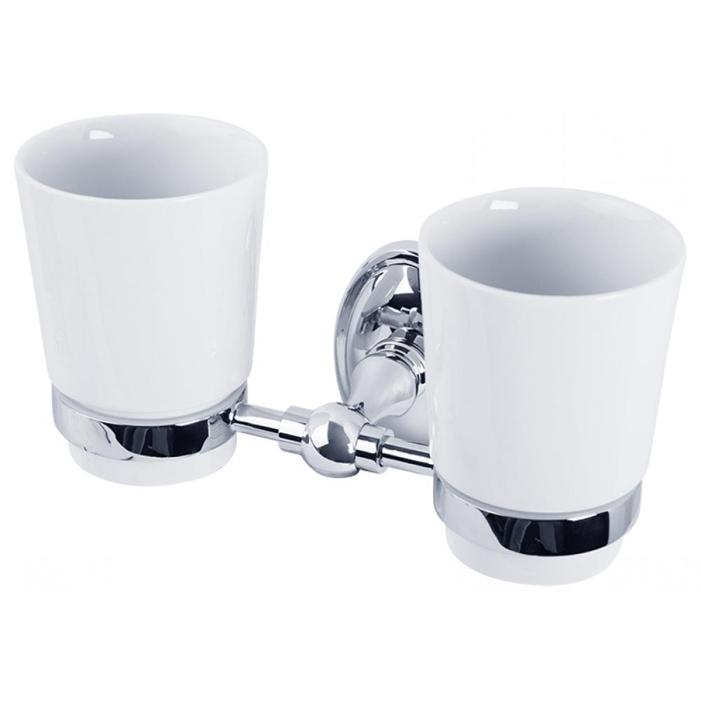 Купить Двойной стакан veragio bonjour настенный, хром/керамика vr.bnr-7842.cr