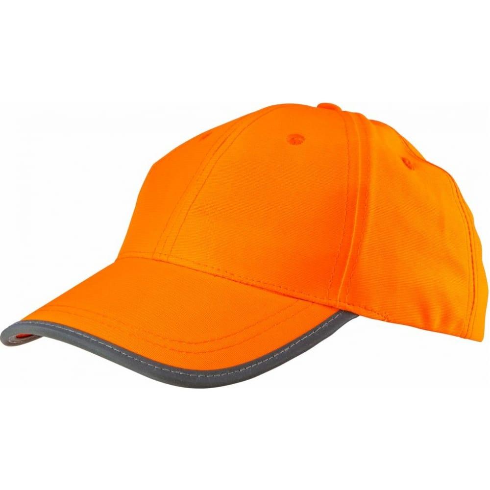 Однотонная сигнальная бейсболка neo оранжевая 81-794