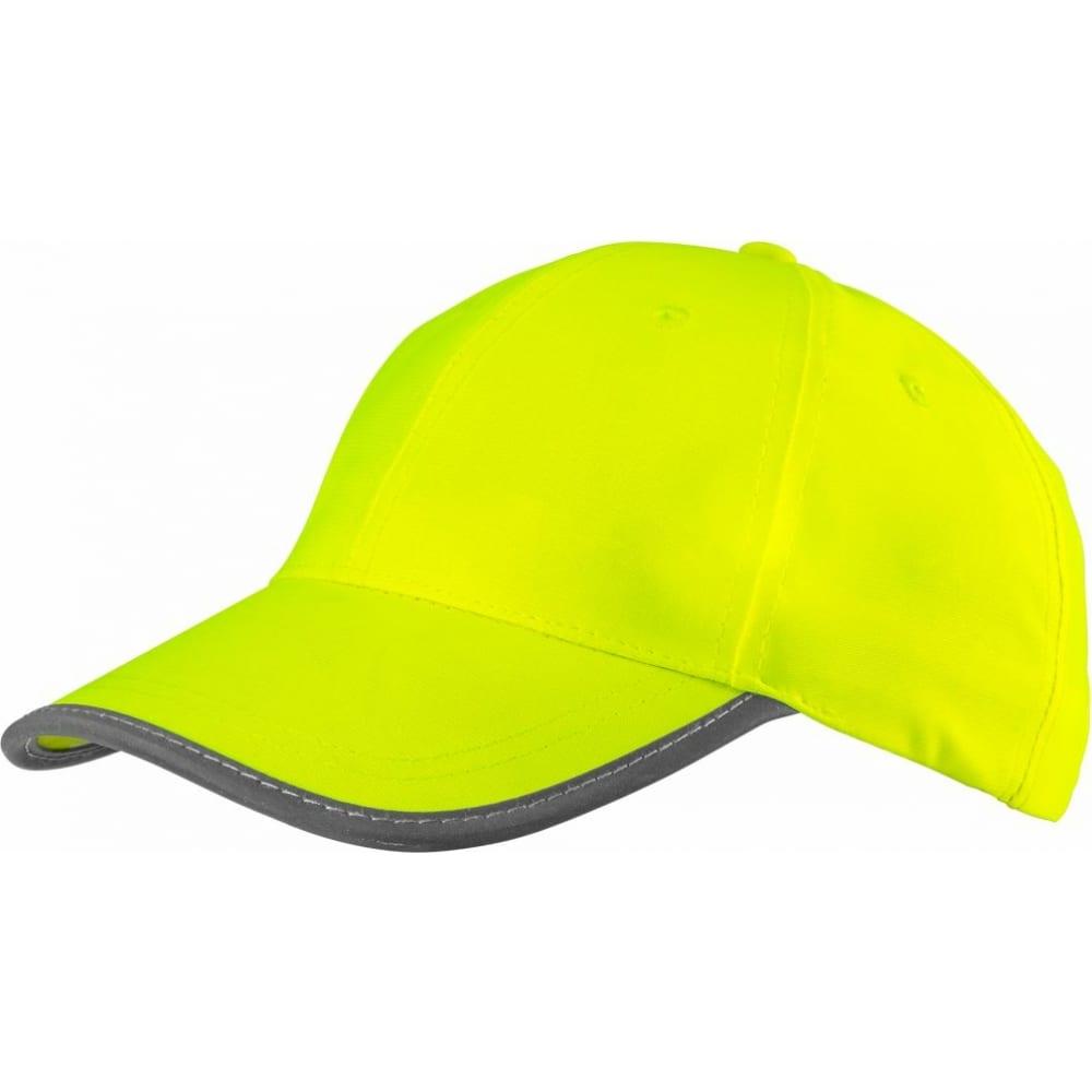 Однотонная сигнальная бейсболка neo желтая 81-793