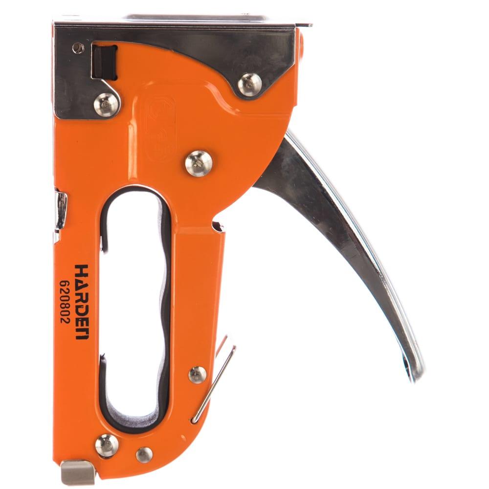 Мебельный степлер harden профессиональный, тип скобы 53 620802