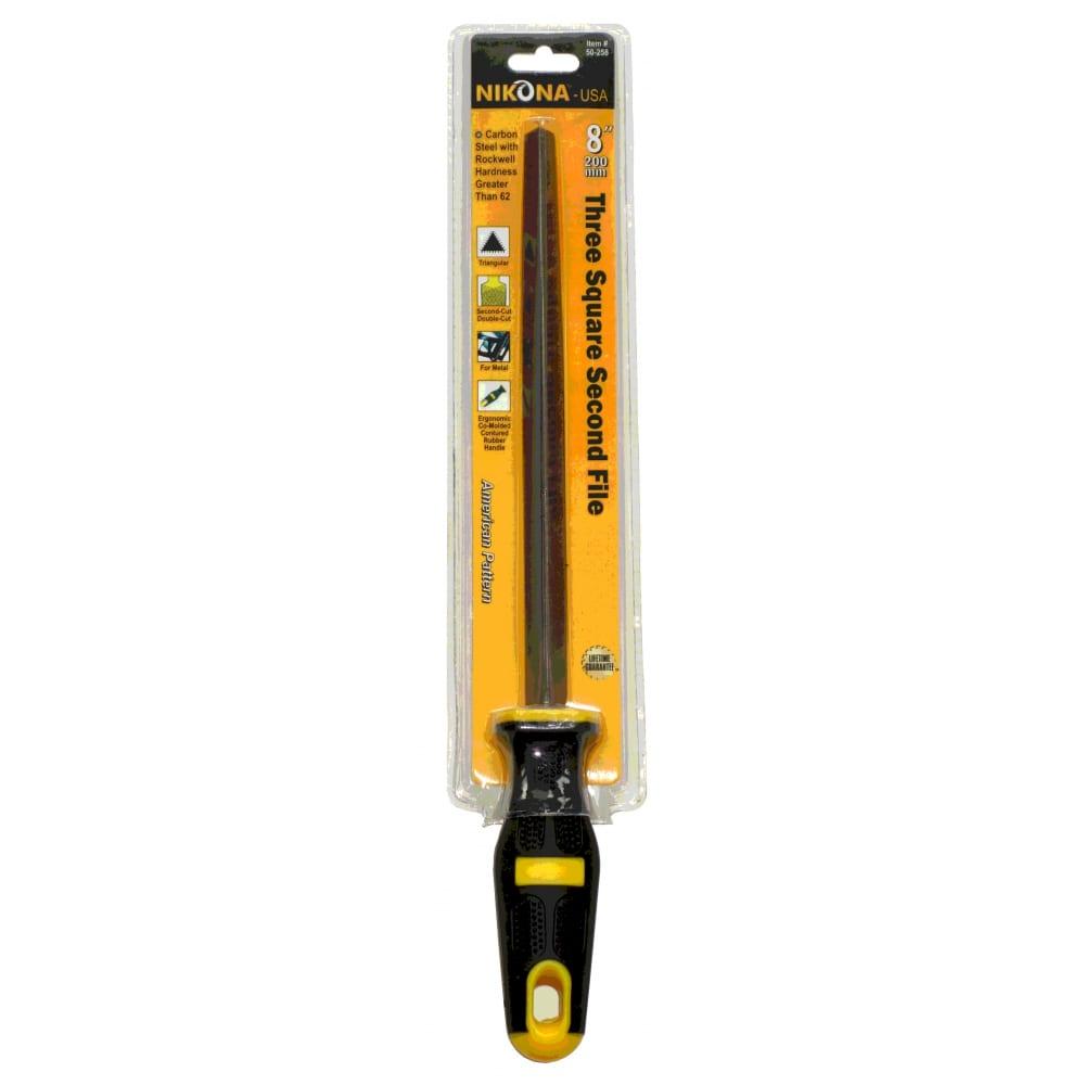Купить Напильник nikona трехгранный с эргономичной ручкой 200мм 50-258