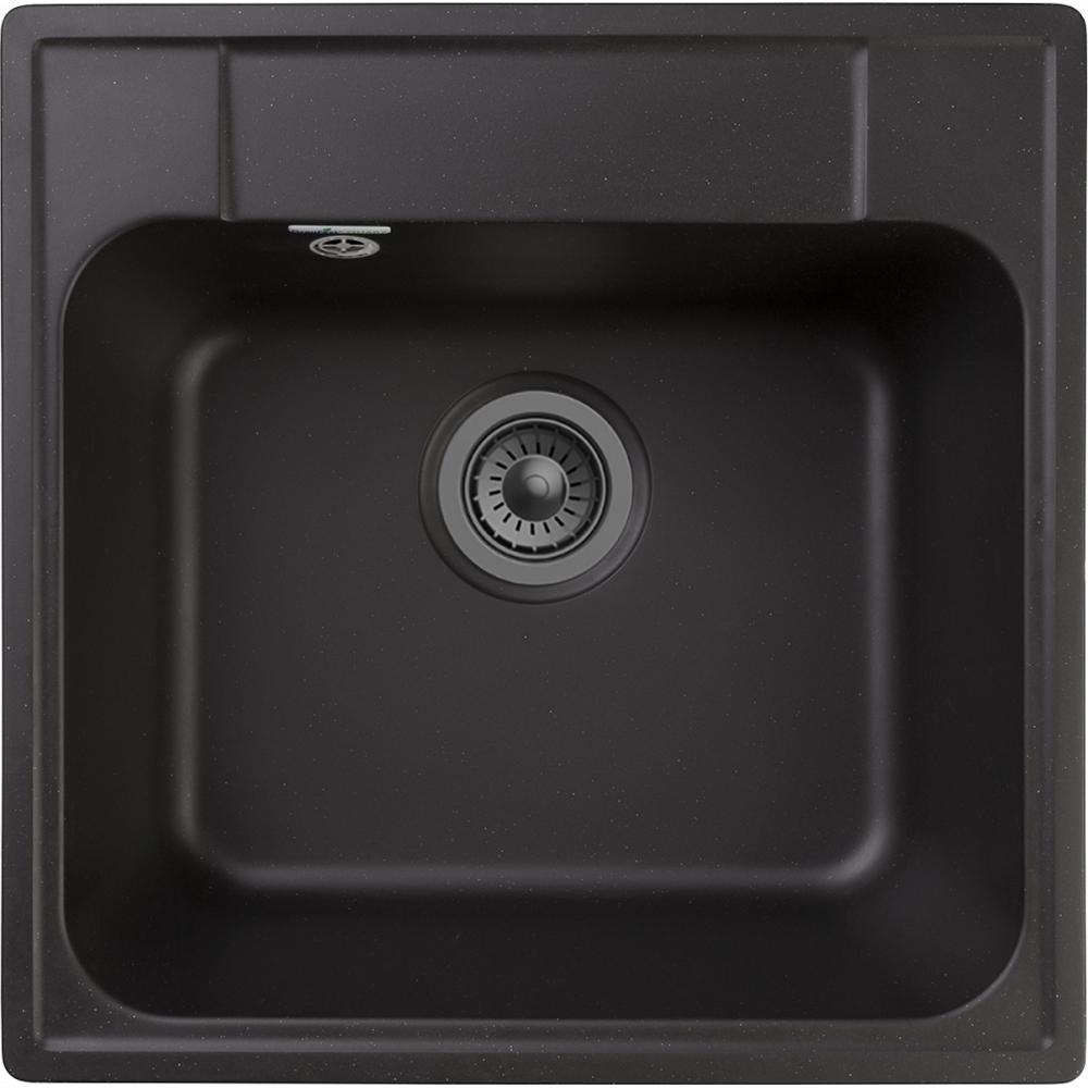 Купить Мойка granfest quarz 1 чаша, 480х480 мм, черный 48 черный