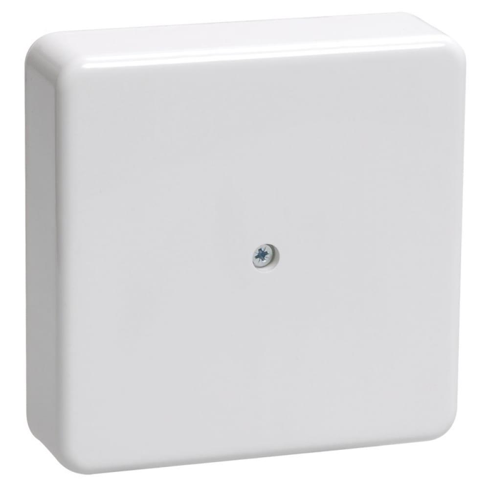 Купить Распаячная коробка iek открытой проводки, 100x100x29, ip44, km41219, иэк uko10-100-100-029-k01