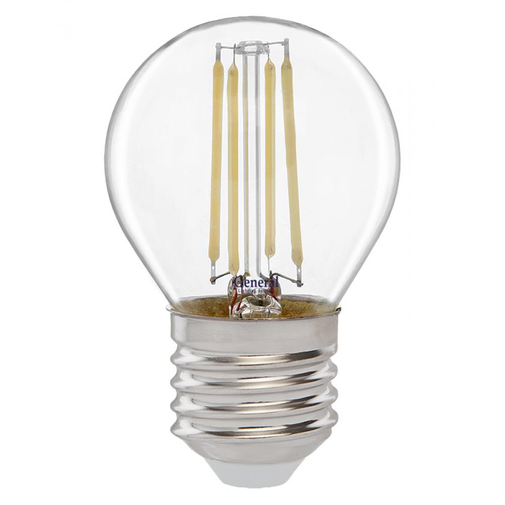 Купить Светодиодная лампа general lighting systems fil шарик g45s-8-e27 649981