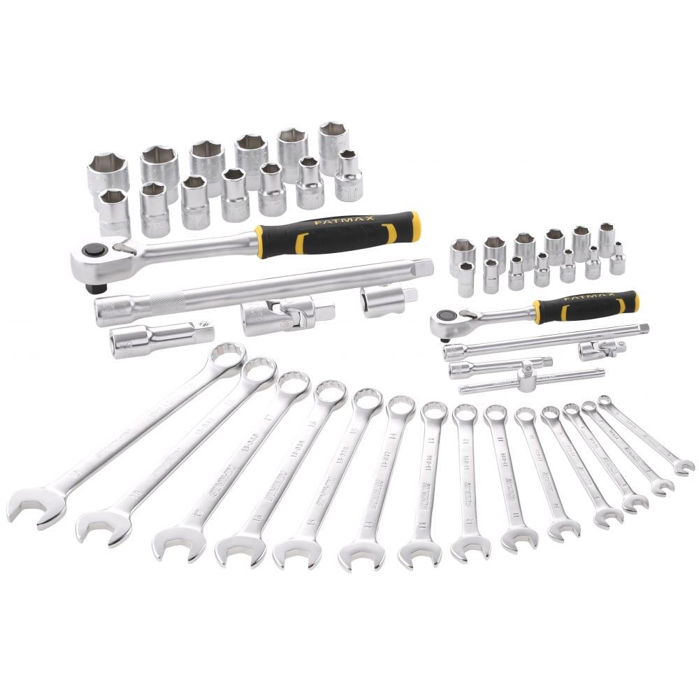 Купить Набор торцевых головок и комбинированных ключей stanley fatmax 1/4 +1/2 , 50 предметов fmmt82827-1