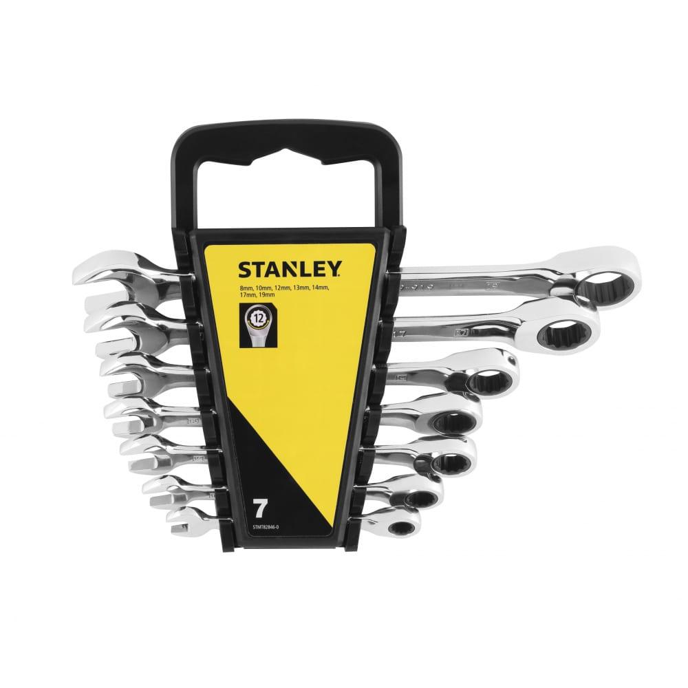 Купить Набор комбинированных ключей stanley 7 шт, с храповым механизмом stmt82846-0