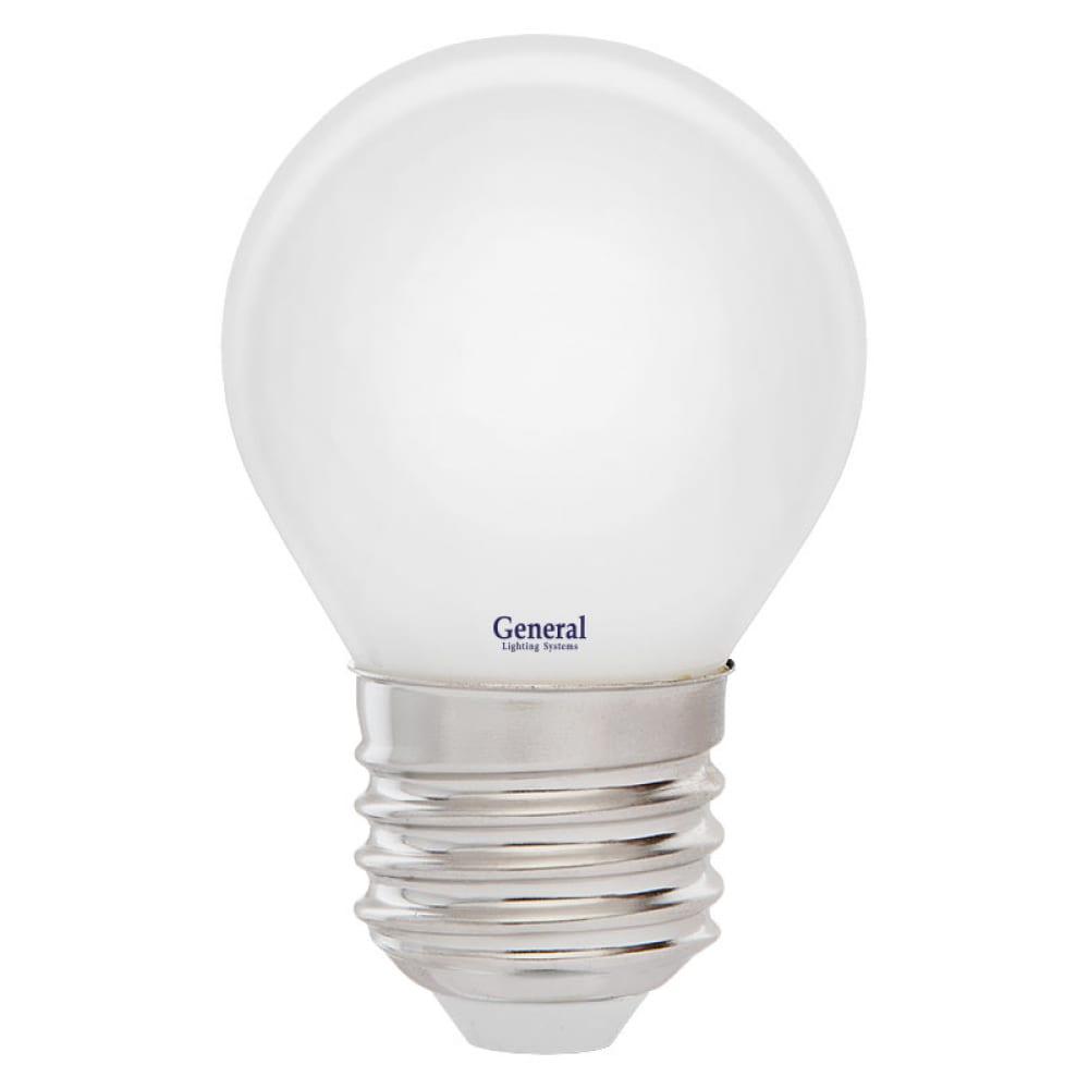 Купить Светодиодная лампа general lighting systems fil шарик g45s-m-8w-e27 654600
