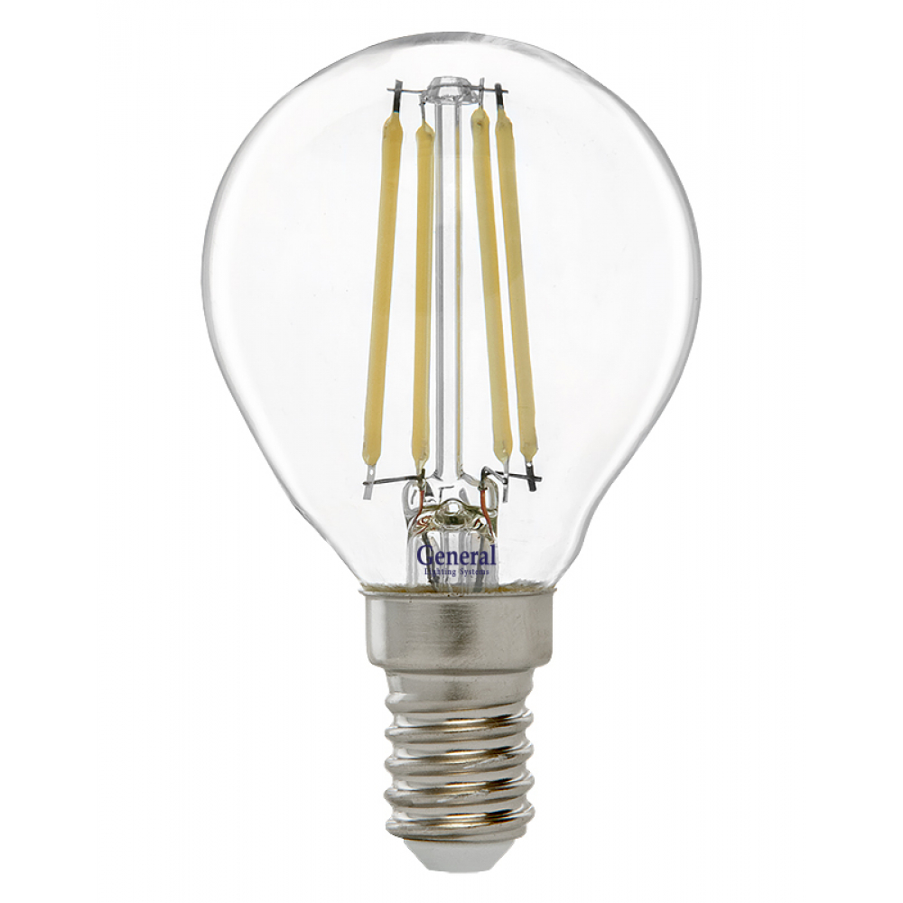 Купить Светодиодная лампа general lighting systems fil шарик 45s-8w-e14 649978