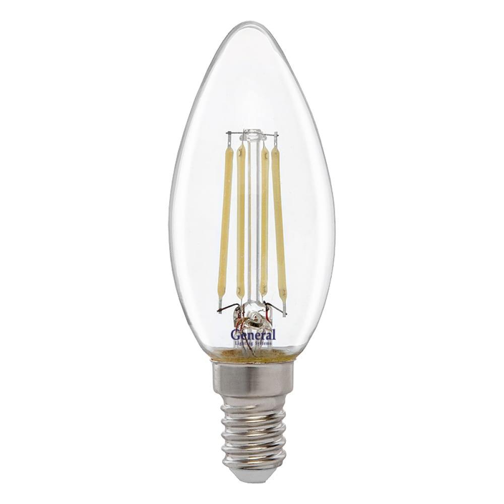 Купить Светодиодная лампа general lighting systems fil свеча cs-8w-e14 649973