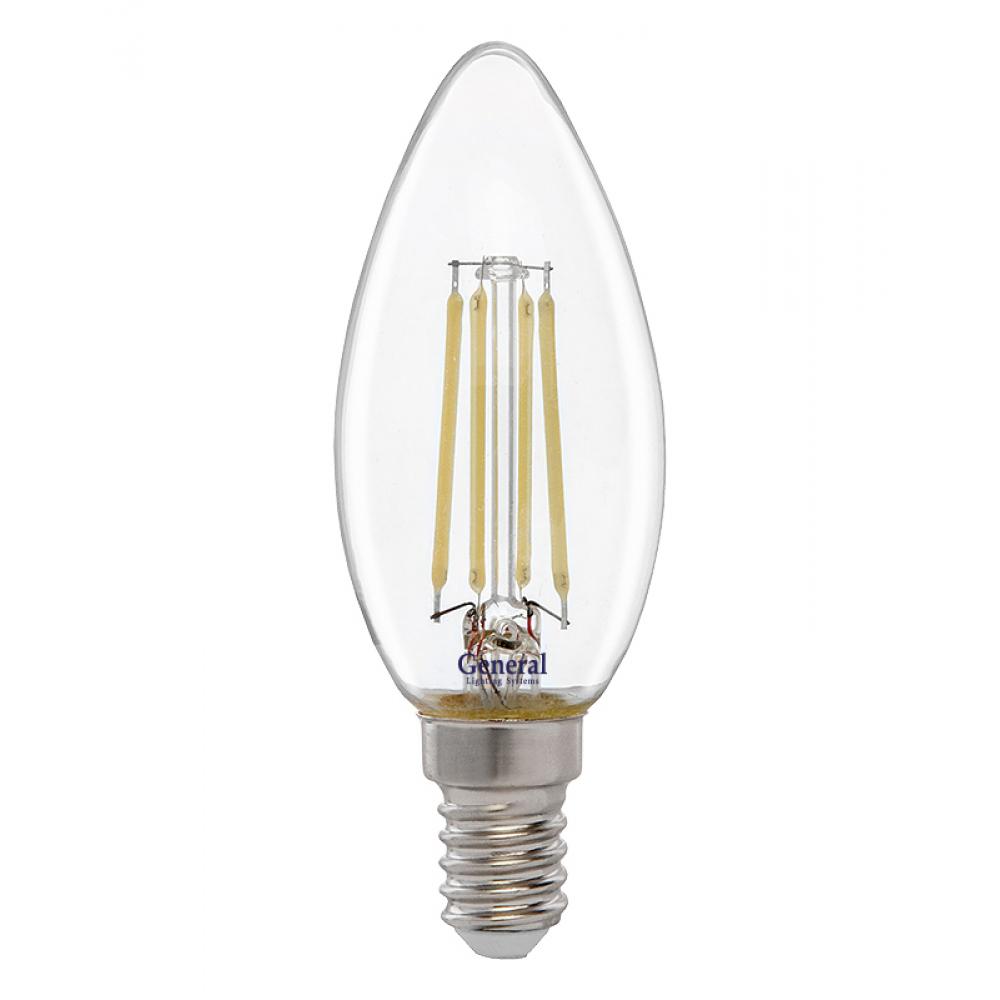 Купить Светодиодная лампа general lighting systems fil свеча cs-8w-e14-2700k 649971