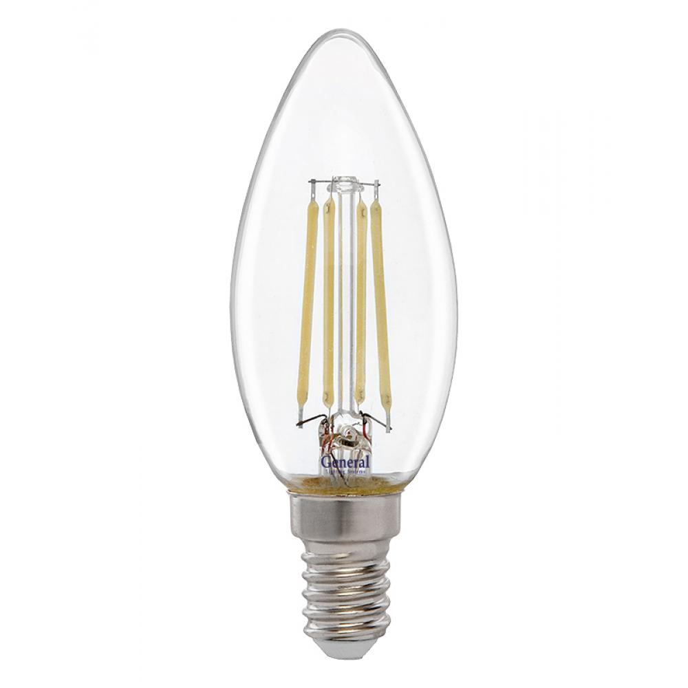 Купить Светодиодная лампа general lighting systems fil свеча cs-10w-e14-4500 649907