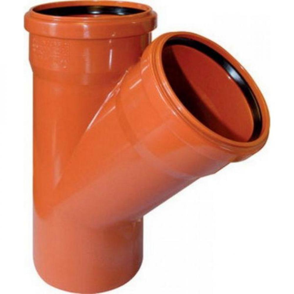 Купить Тройник для наружной канализации flextron 160х160мм, 45° градусов svk-kn70161645