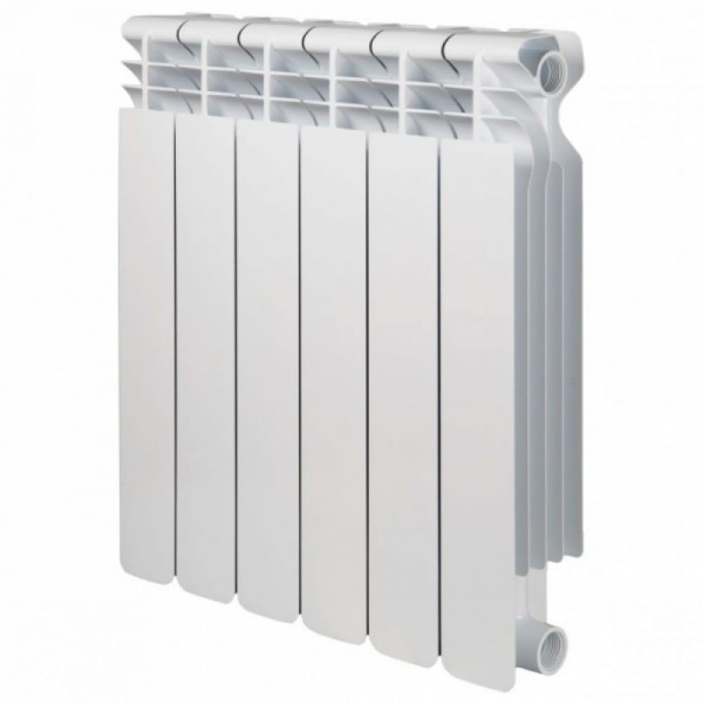 Купить Радиатор radena биметаллический высота 500мм, глубина 80мм, 6 секций 009010206