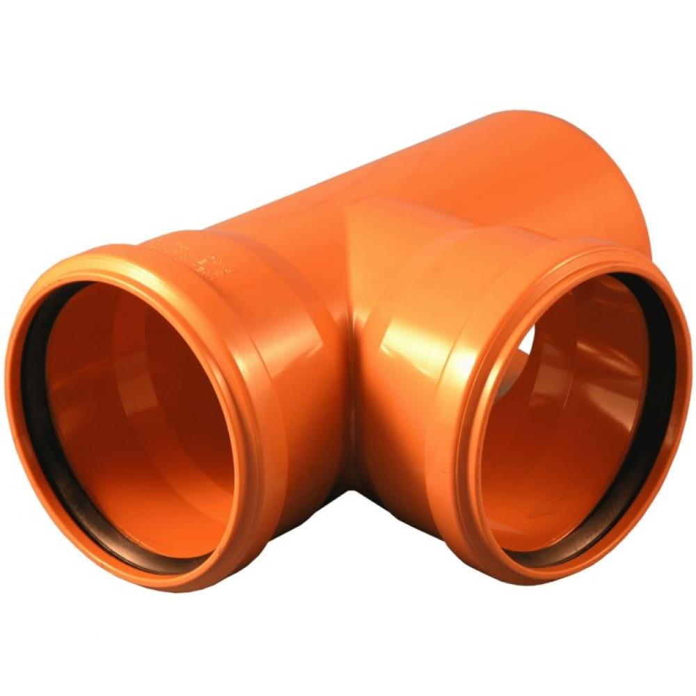 Купить Тройник для наружной канализации flextron 110х110мм 87° грудусов svk-kn70111187