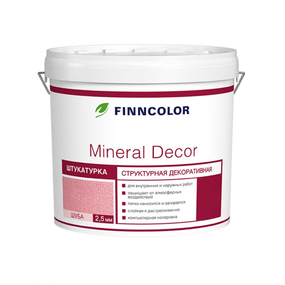Структурная декоративная штукатурка mineral decor шуба (2.5