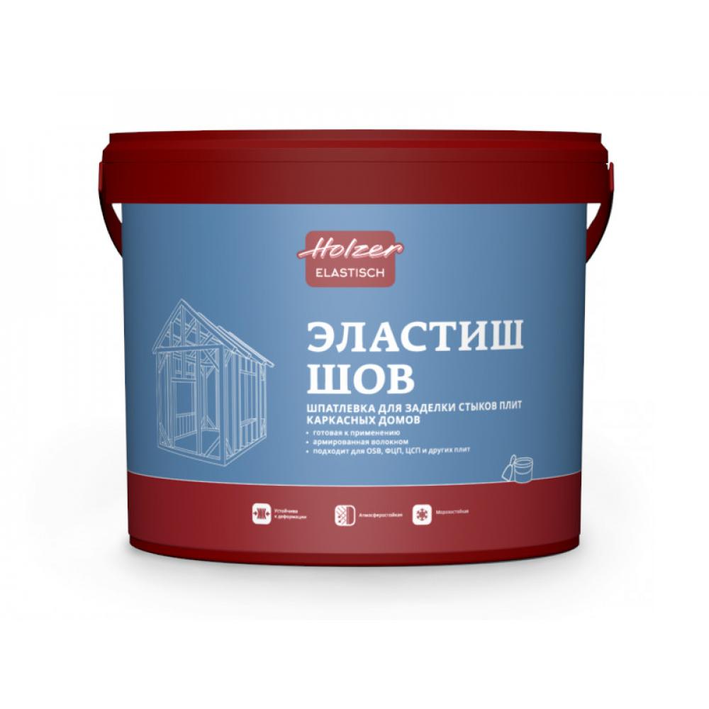 Шпатлевка эластиш шов 4 кг holzer 3028
