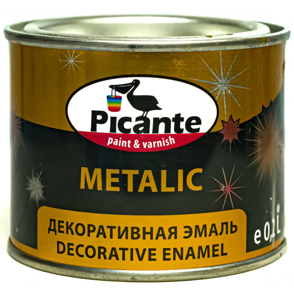 Купить Декоративная эмаль picante metalic ral 1035 имитация золота 0, 2кг 11370-1035.0, 2