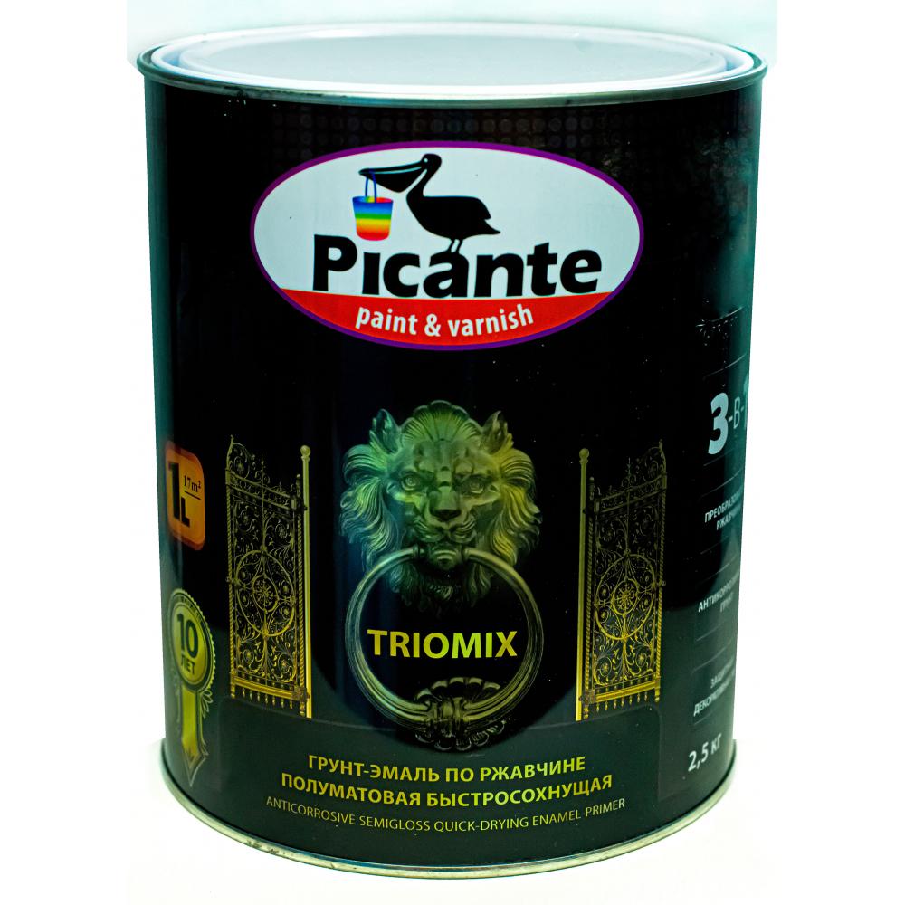 Купить Грунт-эмаль по ржавчине 3в1 picante triomix полуматовая ral 1015 бежевая 2, 5кг 10520-1015.gl