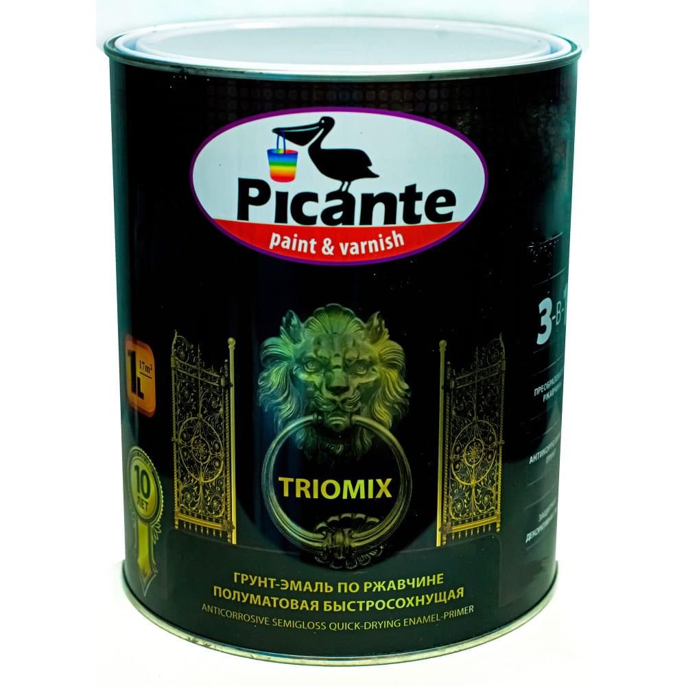 Купить Грунт-эмаль по ржавчине 3в1 picante triomix полуматовая ral 1015 бежевая 0, 75кг 10520-1015.bb