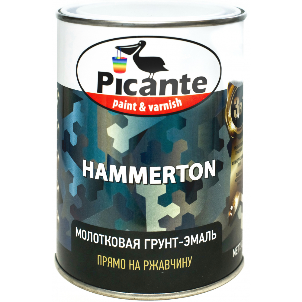 Купить Молотковая эмаль picante hammerton 7013 серая 0, 75кг 10420-7013.bb