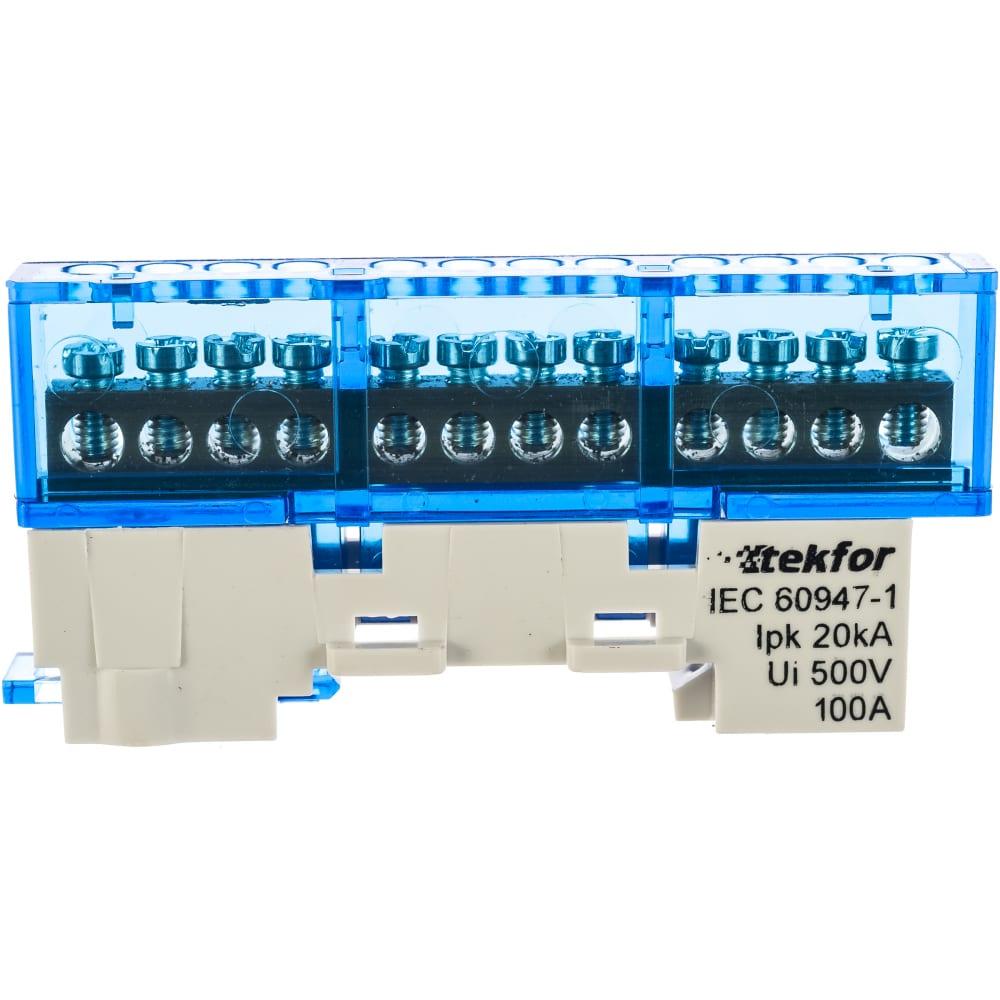 Изолированная нулевая шина tekfor ksn-6-6x9-12 blue 06-07-002