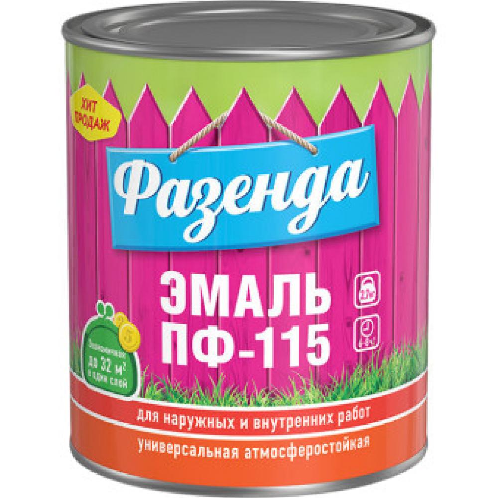Эмаль ленинградские краски фазенда пф-115 красная 0, 9 кг 24300