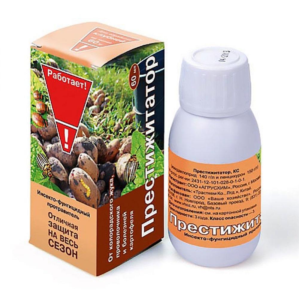 Купить Препарат для защиты растений престижитатор 60 мл от вредителей ваше хозяйство 4607043206008