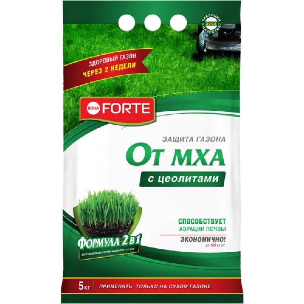 Удобрение для газона от мха bona forte 5 кг bf23010361