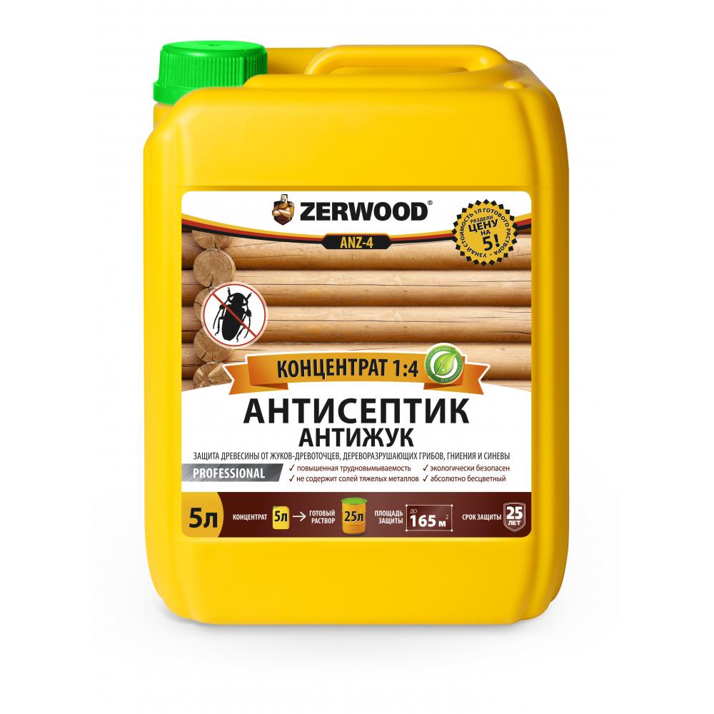 Антисептик антижук zerwood anz-4 5л канистра 00038872