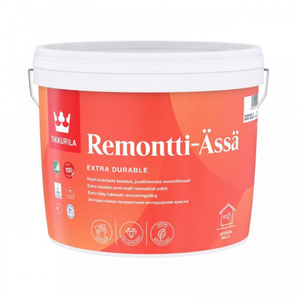 Купить Акрилатная краска tikkurila remontti-assa база с 0, 9 л п/матов. 26743