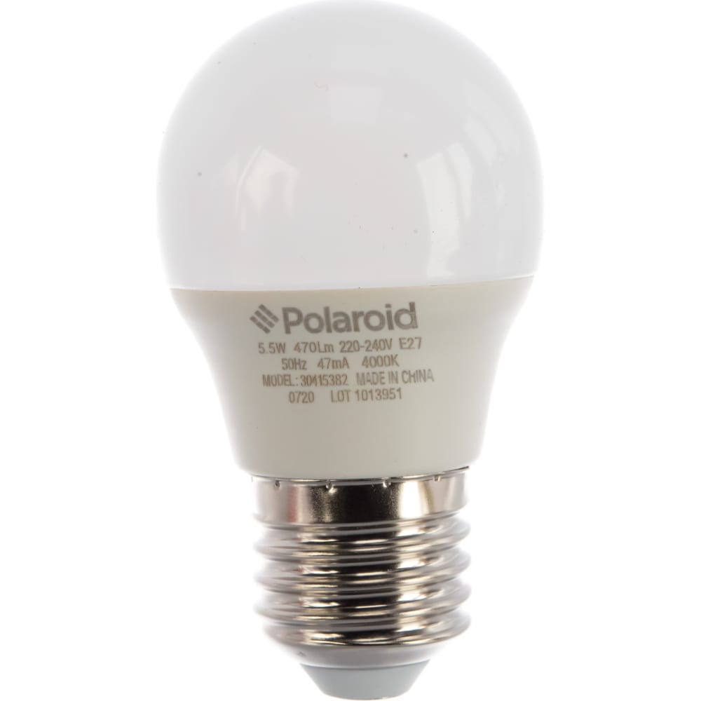 Купить Светодиодная лампа polaroid 220v g45 5, 5w 4000k e27 470lm pl-g4555274
