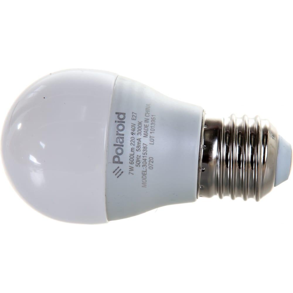 Светодиодная лампа polaroid 220v g45 7w 3000k e27 600lm pl-g457273