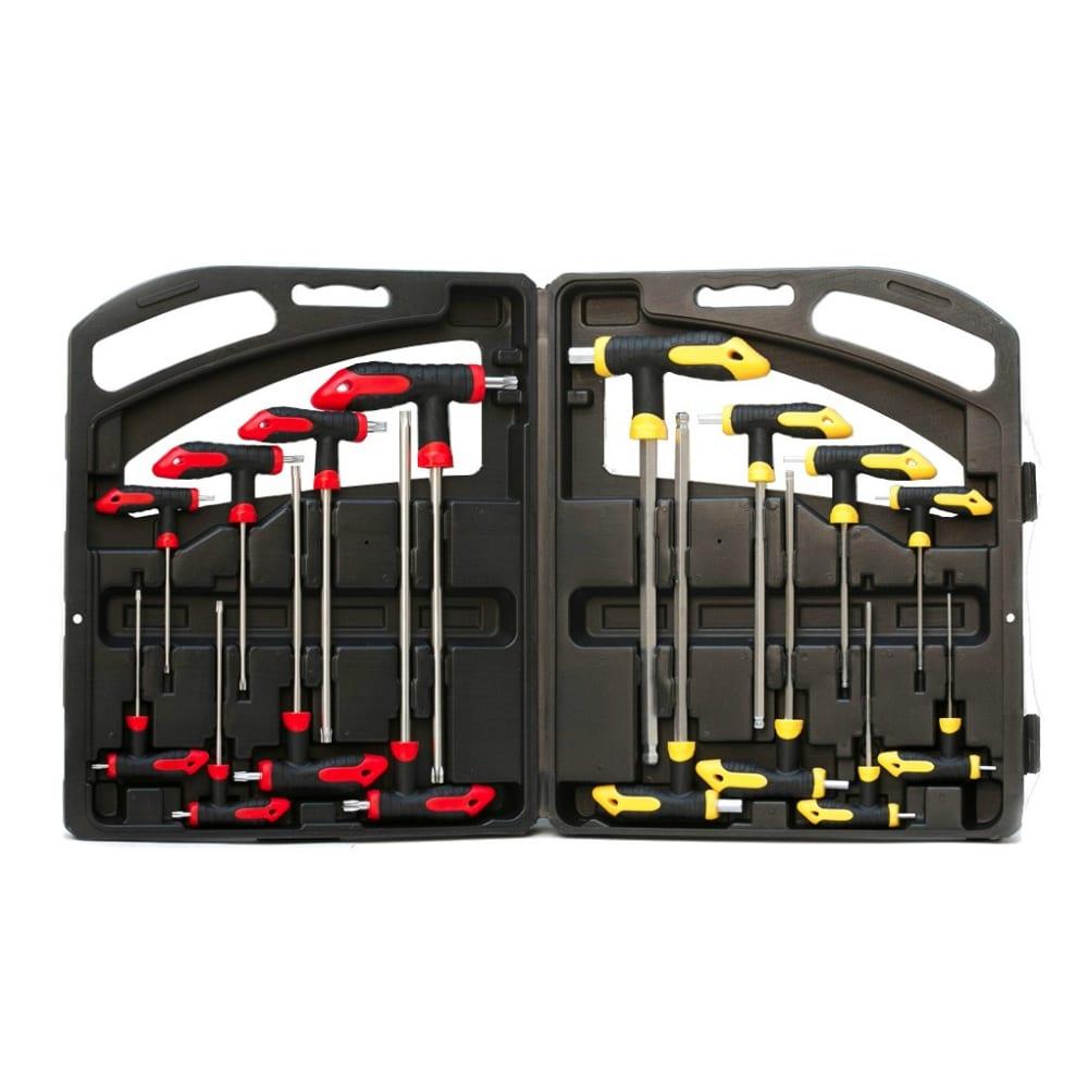 Купить Набор ключей nikona torx, hex, с т-образной пластиковой рукояткой, 16пр 04-916