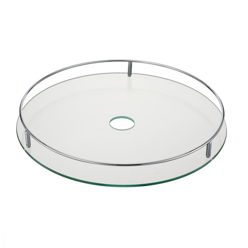 Купить Стеклянная центральная полка lemax диаметр 450 мм, длина 480 мм, ширина 480 мм, высота 70 мм, хром sts450