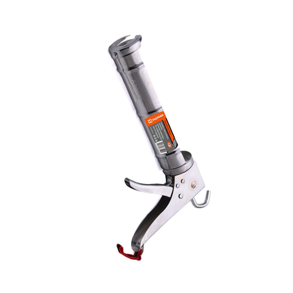 Купить Закрытый профессиональный пистолет для герметика harden алюминиевый корпус, 600 мл 620419