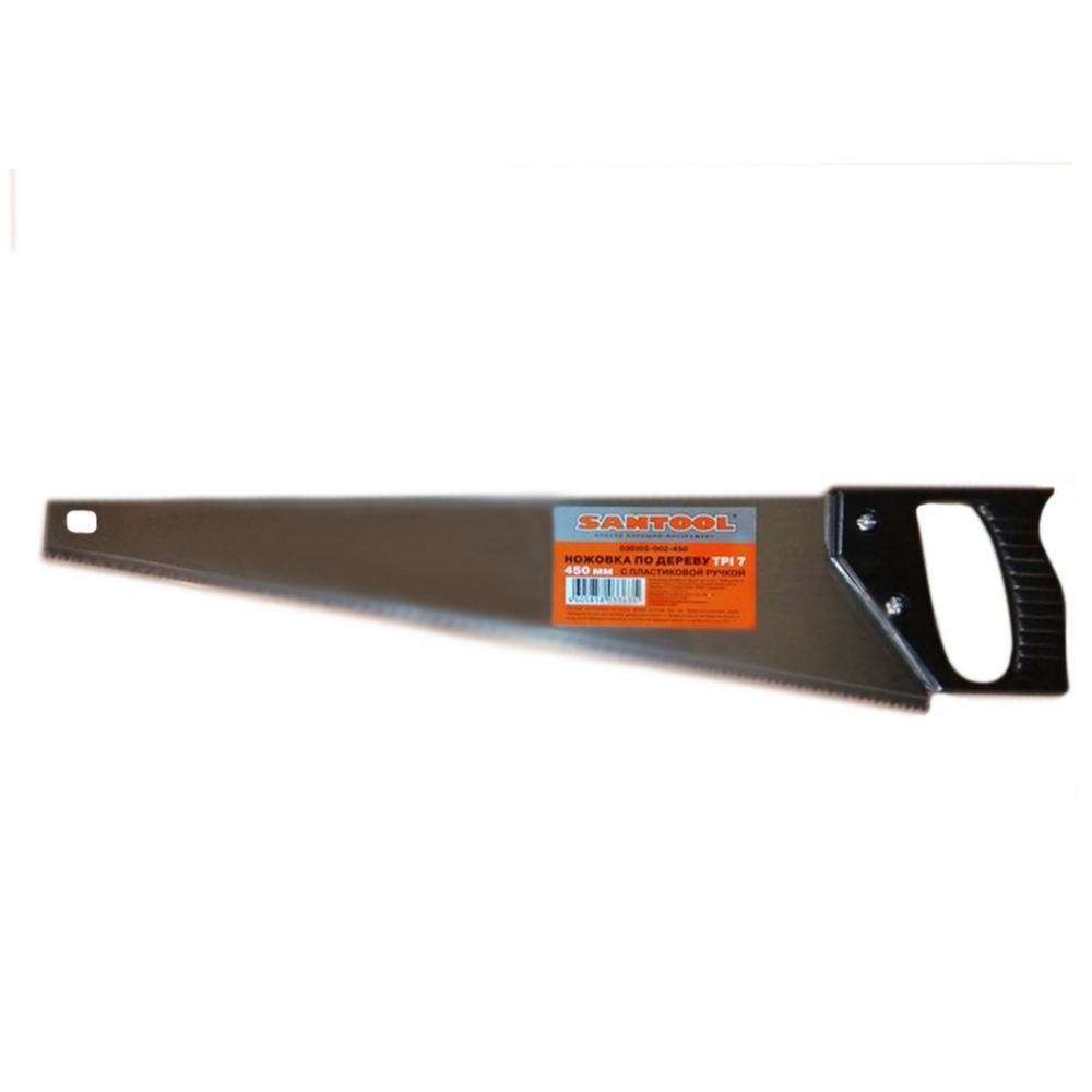 Купить Ножовка по дереву santool 450 мм с пластиковой ручкой tpi 7 030105-002-450