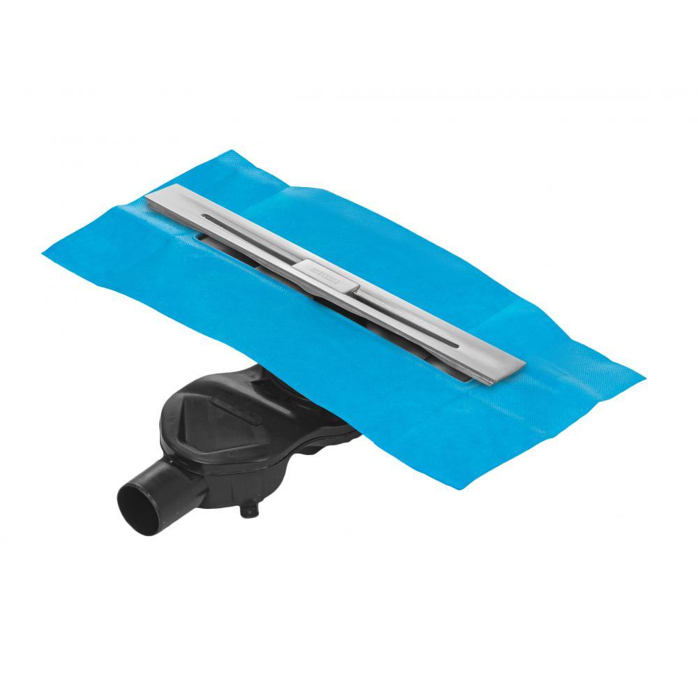 Напольный желоб водосток berges simpel 600 s-сифон, d50, h60, боковой выпуск, 42l/m 090111