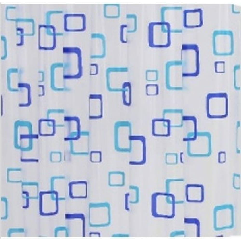 Штора для ванных комнат ridder retro синий/голубой