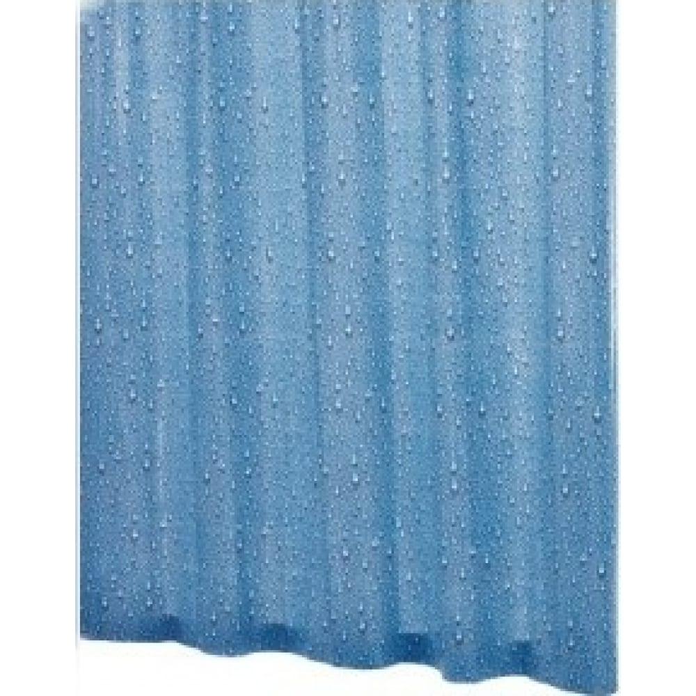 Штора для ванных комнат ridder drops синий/голубой
