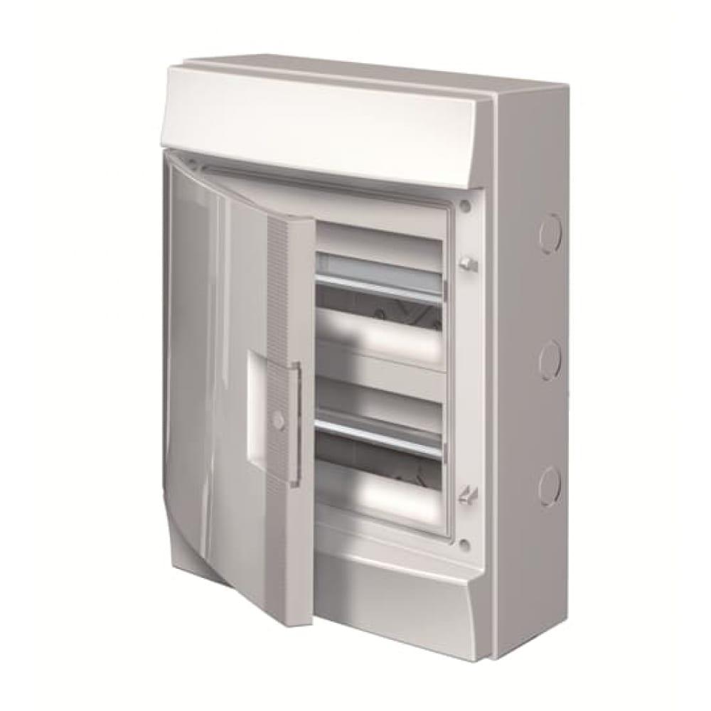 Навесной распределительный щит abb щрн-п-24, пластиковый, непрозрачная дверь, ip65, mistral65, серый 1sl1104a00