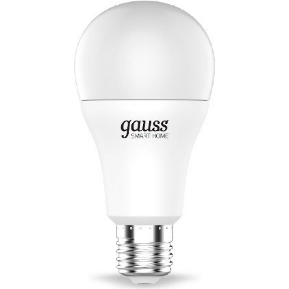 Купить Светодиодная лампа gauss smart home rgbw e27 a60 10вт 2700-6500k 1180112