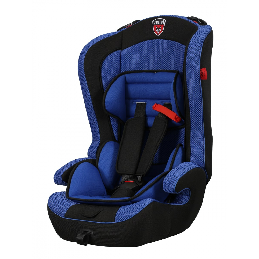 Детское автокерсло vixen оникс, группа 1/2/3, цвет синий 4603745682171